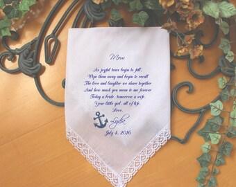 Mother of the Bride Handkerchief-Wedding Hankerchief-PRINTED-CUSTOMIZED-Wedding Hankies-Mother of the Bride Gift-mother of the groomCAC[117]