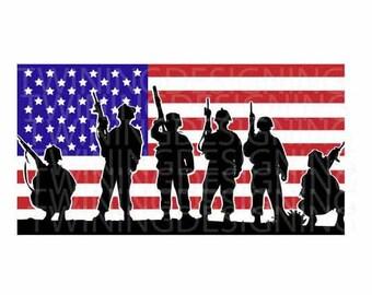 America svg | 4th of July svg | Fourth of July svg | Soldiers Flag svg | Patriotic svg |  SVG | PNG | DXF | Digital Files