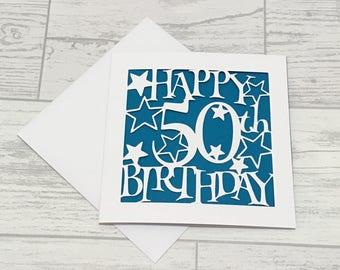 Male birthday cards etsy 50th birthday card fiftieth birthday 50th card happy 50th birthday special birthday bookmarktalkfo Choice Image