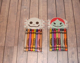 Tsum Tsum Nightmare Before Christmas Crayon Favor Bags