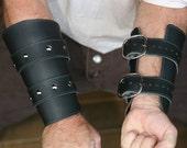 Black Leather Bracers / V...