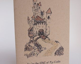 Greeting Card - You're the King of my castle