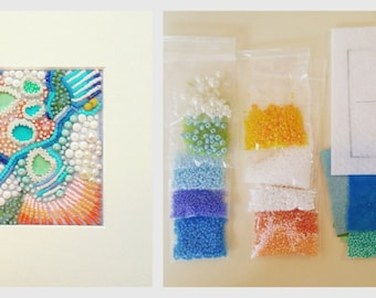 Skillshare Bead Kit: Make your own Coral Tide Pool Abstraction