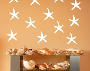 Starfish Decals | Vinyl Wall Decals | Beach Decals | Beach Decor | Nautical Decals | Tropical Decor | 5 Inch Starfish | 22519