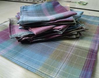 Set of 10 handkerchiefs Plaid