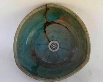 2. Choice of wash basin triangle/restored/celadon/Antik-Raku Ø 36 cm Height 14 cm