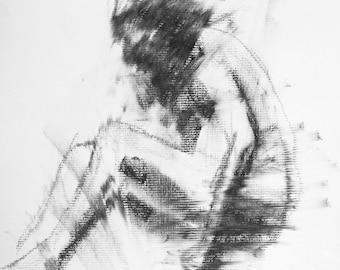 Haunting Fine Art Figure Drawing, No. 12