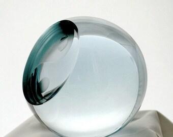 Yin - Yang  - engraved glass