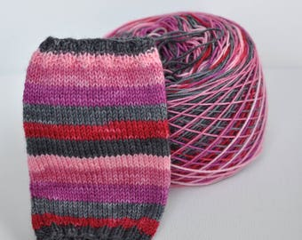 "Self-Striping Yarn - ""My Bloody Valentine"""