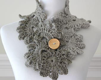 Crochet Gray Scarf
