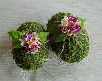 Decorative Easter Eggs, Easter eggs, Moss Easter eggs, Moss Covered Eggs, Easter table decor, Decorative eggs, Rustic Easter eggs,