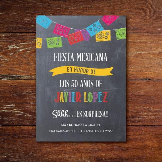 Invitación a Fiesta de Cumpleaños Fiesta Mexicana Es