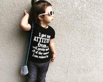 I get my attitude from... (custom kids t-shirt)