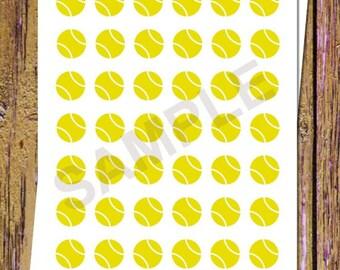 42 Tennis Planner Stickers Tennis Stickers Tennis Game Stickers Functional Planner Stickers Sports Planner Stickers Icon Stickers Yellow A24