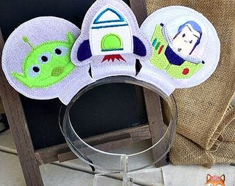 Buzz Lightyear inspired mouse ears