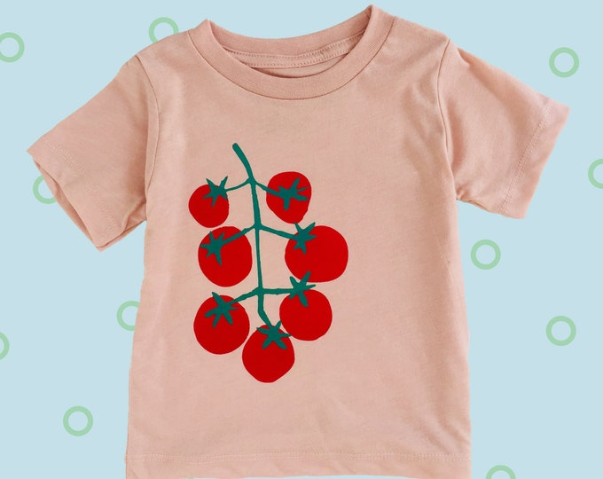 Featured listing image: TOMATOES Toddler Tee - Pink