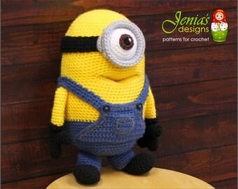 CROCHET PATTERN - Crochet Minion Toy Pattern