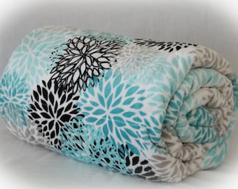 Floral Minky Weighted Blanket / Gift for Mom / Gift for Wife / Floral Weighted Blanket / Mothers Day Gift / Mom Gift Ideas / Wife Gift