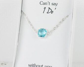 Aquamarine Silver Bracelet, March Birthstone Silver Bracelet, Bridesmaid Aquamarine Bracelet, Silver Bracelet, Bridesmaid Jewelry