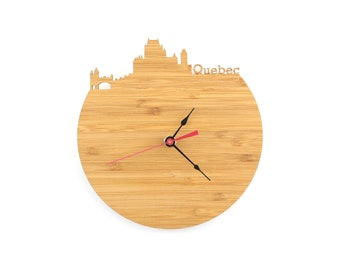 Quebec City Modern Clock - City Skyline Wall Clock - Canada