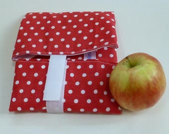 OnTheGoSandwich Sandwich wrap: red and white polka dots