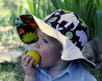 Baby sunhat with wide brim, sun protection hat for little boys