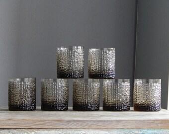 Soviet Vintage Juice Glasses Drinking Glasses Set of 7 Glassware Soviet Glass