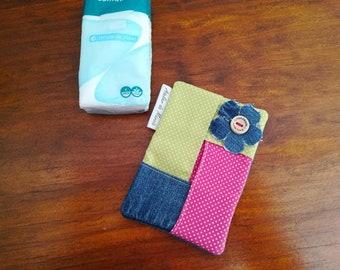 Pocket tissue holder, Travel tissue holder, Tissue case, Travel tissue case, Tissue case for purse, Fabric tissue case, Fabric tissue holder