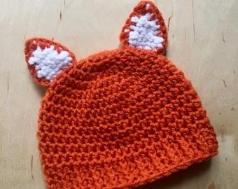 Fox Hat, Crochet Fox Hat, Crochet Hat, Crochet Hats for Kids, Crochet Hat Baby, Animal Hat, Crochet Hat Toddler