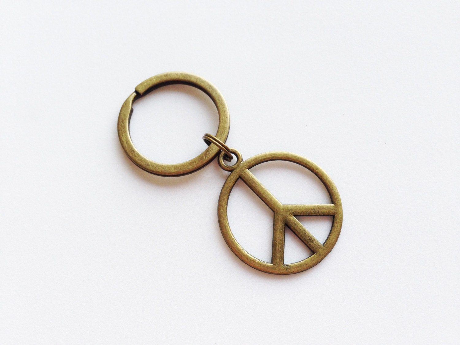 Symbol of peace keychain peace keyring peace gift hippie request a custom order and have something made just for you buycottarizona