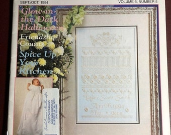 MAYniaSALE Stoney Creek, Collection, Magazine, Vintage, 1994, Sept/Oct, Counted Cross Stitch, Patterns