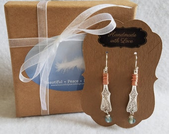 Sterling silver spoon earrings