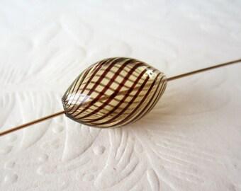 Hollow Glass Beads-Taupe-6 Beads-Destash
