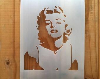 Marilyn Monroe STENCIL for home wall interior decor / famous person reusable stencil