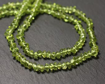 20pc - stone beads - Peridot Rondelles 4-5mm - 8741140012158 abacus
