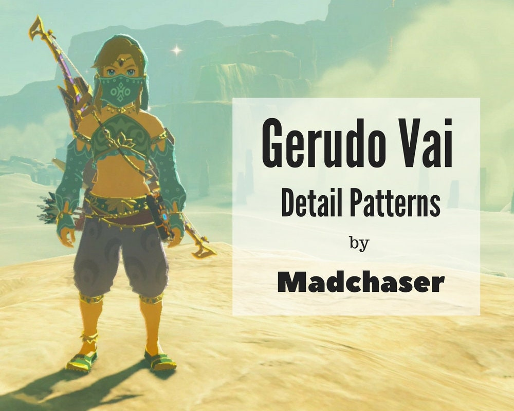 Gerudo Vai Link Detail Patterns de Madchaser en Etsy Studio