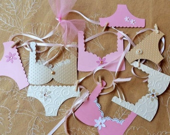 Bachelorette Decoration Banner with Cottage Chic Lingerie, Gold and Pink, Bridal Shower, Lingerie Banner, Photo Prop
