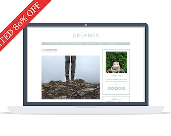 80% - Dreamer - Wordpress Theme - Google Fonts - Self Hosted - Wordpress Blog Theme - Responsive