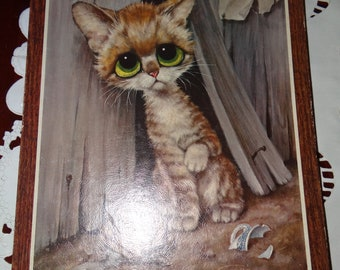Original 1965 GIG Big Eye Cat Picture