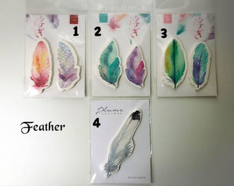 Sticky notes - Feather, Planets, Hello Jane, Leaf, memo it, sticky memo, paper note