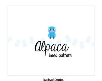 Alpaca Bead Pattern, Brick Stitch Beading