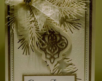 Season's Greeting's Ornament/Boughs/Bows