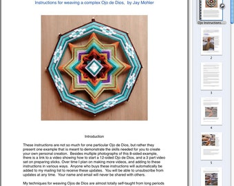 PDF Instructions for Making Your Own 8- or 12-sided Mandala