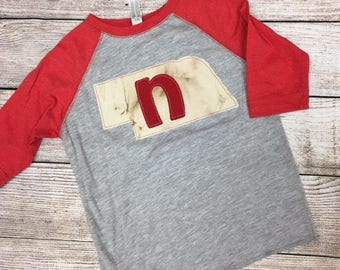Toddler Nebraska state tee