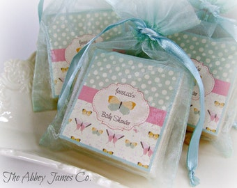 baby shower soap favors, Butterfly shower favors,  baby  favors, set of 10