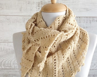 Light knit triangle scarf, scarf, knit scarf, women scarf, triangle knit scarf  FAST DELIVERY
