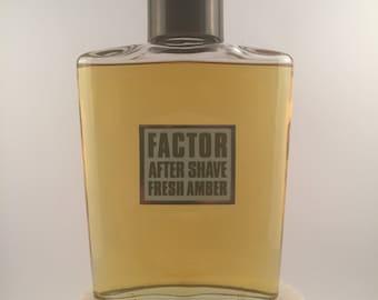 Vintage Max Factor 'FACTOR AFTER SHAVE' Fresh Amber 122 ml.  Splash.