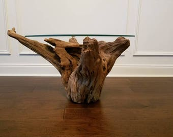 Wonderful Driftwood Root Stump Table