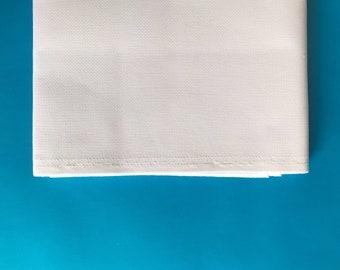 White aida fabric, permin, 18 count aida, cross stitch fabric, embroidery fabric, white, 100% cotton aida, premium cross stitch supply