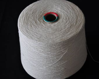 1 spool 1 kg 100 bourette silk yarn nature Nm 6/1 on paper cone 1500 den